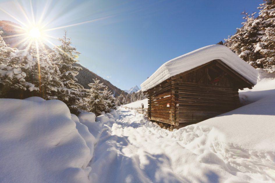 Winterlandschaft im Sellraintal