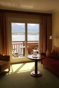 Vue sur le lac Wolfgangsee, Romantik Hôtel du Cheval Blanc © Natalie Lantos