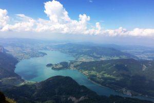 Vue sur le lac Mondsee depuis la montagne Schafberg © Natalie Lantos