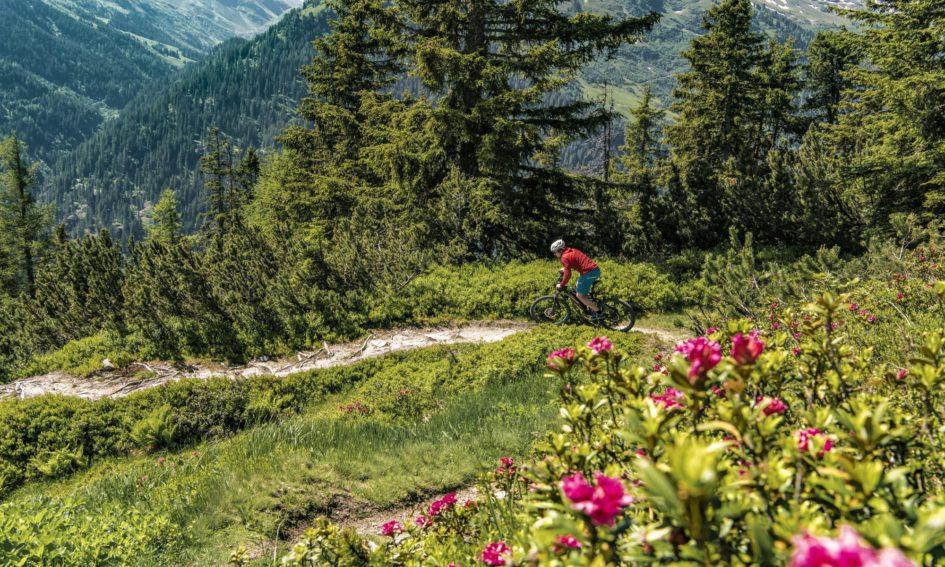 VTT dans les montagnes de St. Anton am Arlberg © TVB St Anton am Arlberg / Patrick Baetz