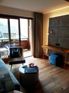 Hotel Jerzner Hof Suite junior Bergblume coin séjour